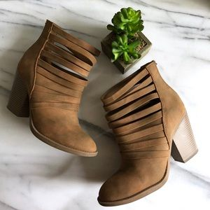 Altar'd State Strappy Hybrid Ankle Booties Size 9